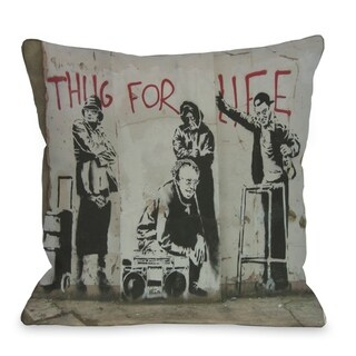 Thug For Life  Pillow by Banksy