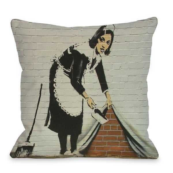 Under the Rug Pillow by Banksy