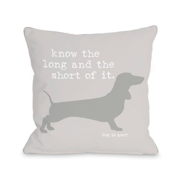 Long and Shore - Gray Pillow by Dog is Good
