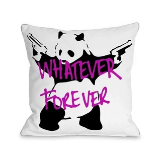 Panda Whatever Forever  Pillow by Banksy