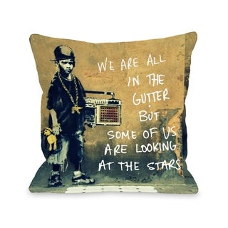 In The Gutter - Multi  Pillow by OBC