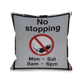 No Stopping - Multi  Pillow by OBC