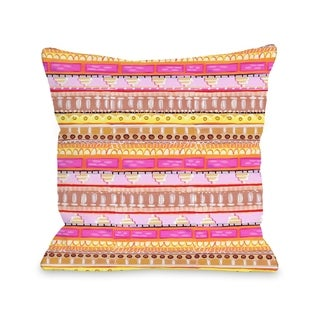 Love from NYC 15 Pattern - Pink Multi  Pillow by Pinklight Studio - April Heather Art