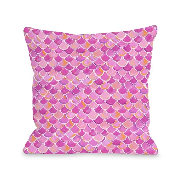 Love from NYC 13 Scale Pattern - Pink Multi Pillow by Pinklight Studio - April Heather Art