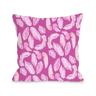 Stilettos Feathers 2 - Multi  Pillow by Pinklight Studio - April Heather Art
