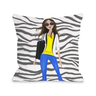 Style File 4 - Multi  Pillow by Pinklight Studio - April Heather Art