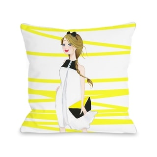 Style File 6 - Multi  Pillow by Pinklight Studio - April Heather Art