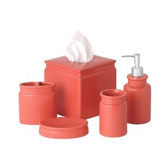 Sparrowhawk Skylar Solid Color 5-Piece Bath Accessory Set