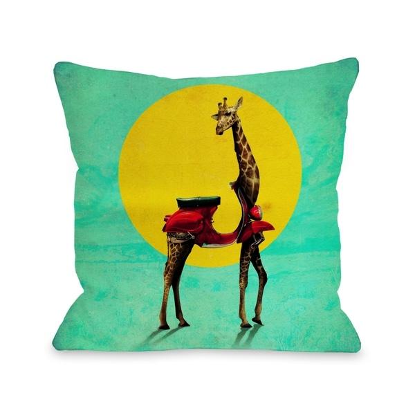 Giraffe - Multi Pillow by Ali Gulec
