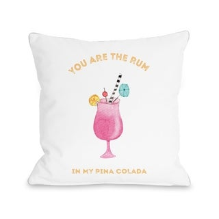 You Are The Rum - Multi  Pillow by Cheryl Overton