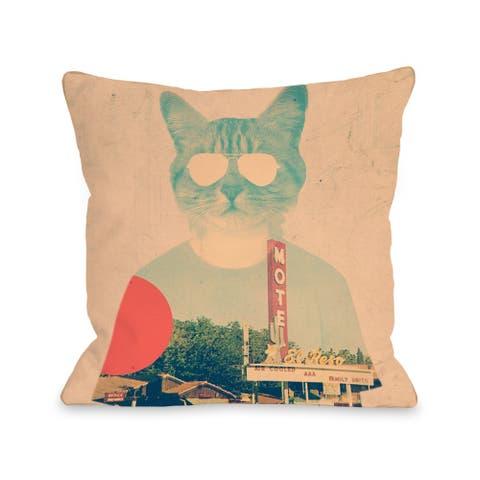 Cool Cat - Multi Pillow by Ali Gulec