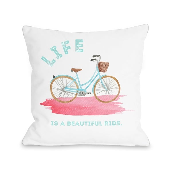 Life Is A Beautiful Ride - Multi Pillow by Cheryl Overton
