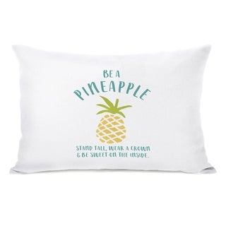Be A Pineapple - White 14x20 Pillow by