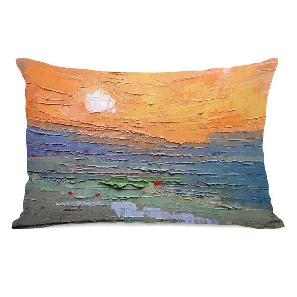 Burnt Sky - Multi 14x20 Pillow by Carol Schiff