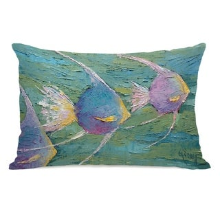 Angels On Parade - Multi 14x20 Pillow by Carol Schiff