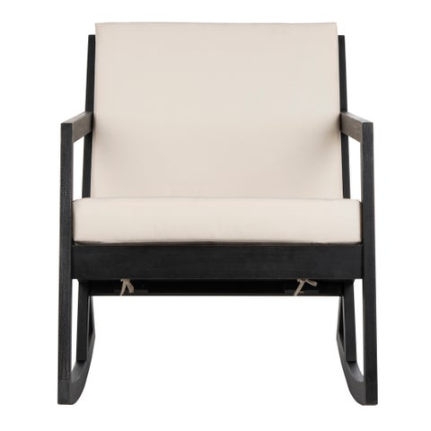Safavieh Outdoor Living Vernon Rocking Chair - Black / White