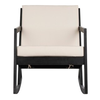 Safavieh Outdoor Living Vernon Rocking Chair - Black / White
