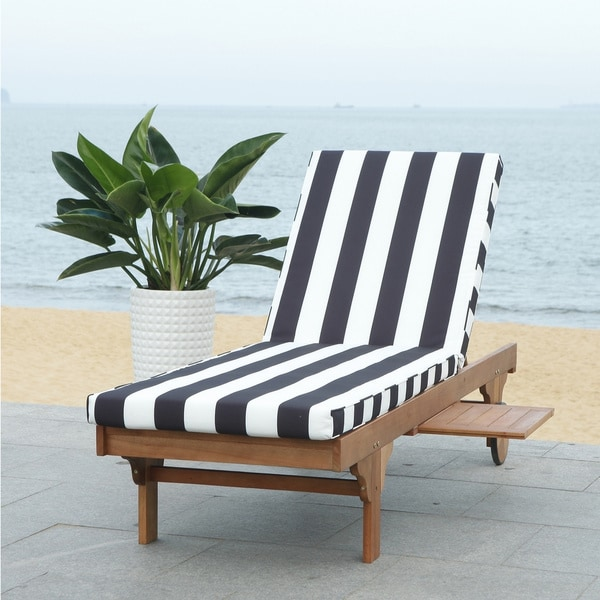 Shop Safavieh Outdoor Living Newport Ash Black White Stripe Cart