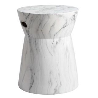 Safavieh 19-inch Balboa Marble Indoor / Outdoor Garden Stool - White / Black