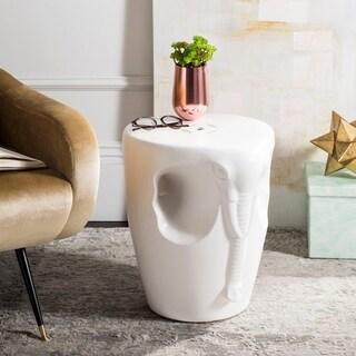 Safavieh 17.75-inch Elephant Indoor / Outdoor Garden Stool - White
