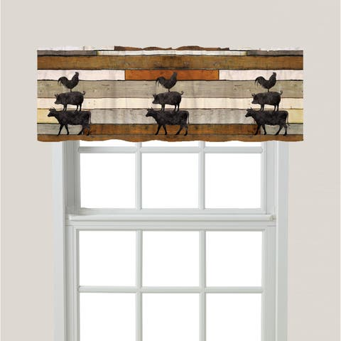 Laural Home Animals at the Farm Window Valance