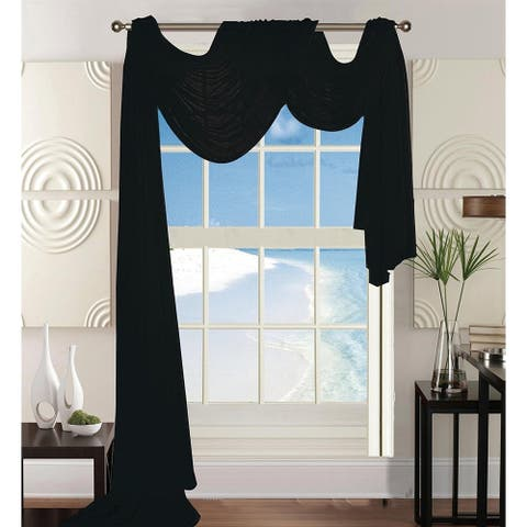 "Elegant Comfort Beautiful Window Panel Curtain Sheer Voile Scarf 55"" X 216"" - 55"" x 216"""