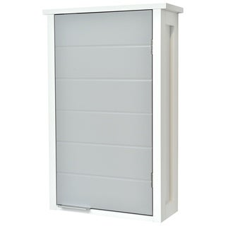 Evideco Wall Mounted Bathroom Cabinet 1 Door-Modern D- White and Grey