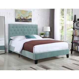 Emerald Home Amelia Light Blue Full Tufted Upholstered Bed
