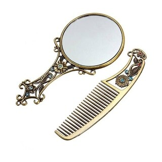 M.B.S. Vintage Hair Comb and Mirror