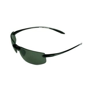 Serengeti Lipari Unisex Shiny Black w/ Polarized PHD CPG Lens Sunglasses - Medium
