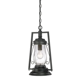 Acclaim Kero Outdoor 1-Light Hanging Lantern with Matte Black Finish