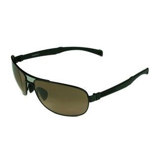 Serengeti Norcia Satin Black/Black w/ Drivers Gradient Lens Sunglasses - Black - Medium