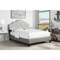 Emerald Home Anchor Bay Cream Queen Tufted Upholstered Bed