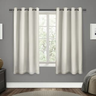 ATI Home Sateen Twill Woven Blackout Window Curtain Panel Pair