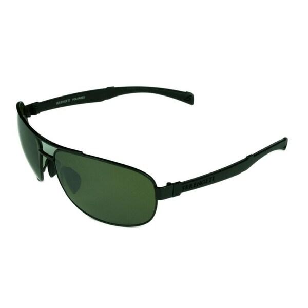 e232f2ebf01 Serengeti Norcia Satin Black Black w  Polarized 555NM Lens Sunglasses -  Black - Medium