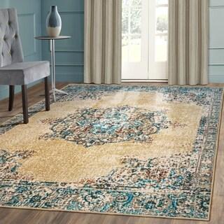 Miranda Haus Designer Decklan Printed Area Rug 2' x 3' Non-Slip - 2' x 3'