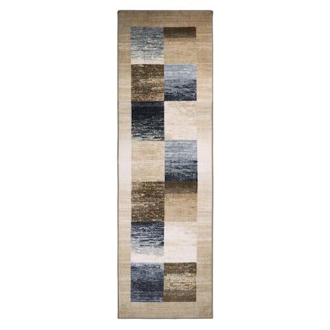"Superior Designer Lockwood Printed Area Rug Runner Non-Slip - 2'6"" x 8'"