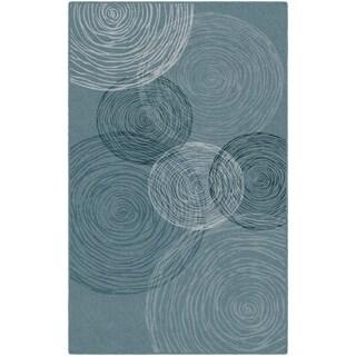 Brumlow Mills Pinwheels in Blue, Contemporary Area Rug BLUE - 3'4 x 5'