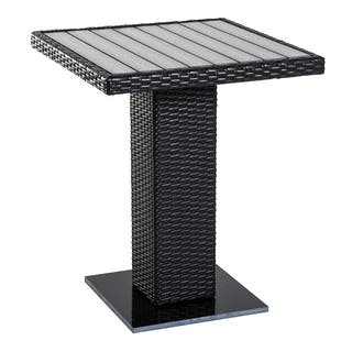 Marble patio furniture find great outdoor seating dining deals outsunny with marble base 24 outdoor wicker rattan patio dining table square brown watchthetrailerfo