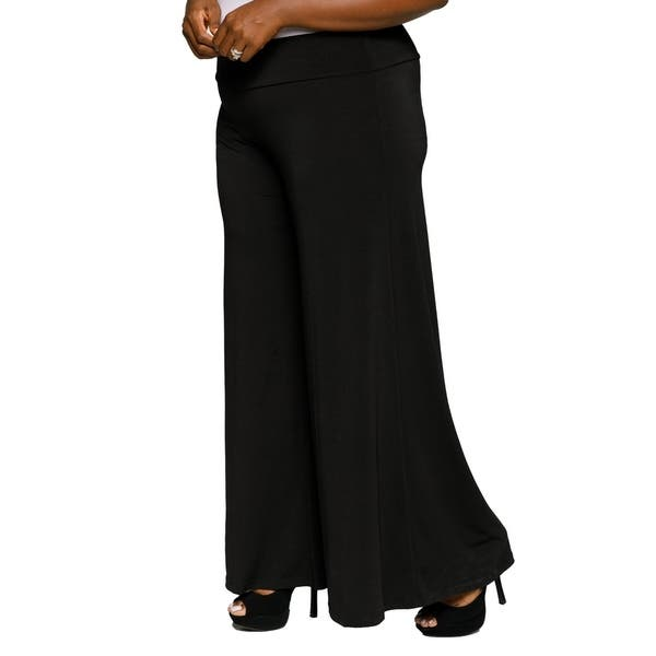 Shop Xehar Womens Plus Size Wide Leg Stretch Palazzo Flare ...