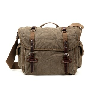 TSD Brand Silver Road Messenger Bag