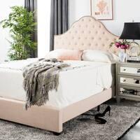 """Safavieh Bedding Beckham Queen size bed - Beige - 88.8"""" x 64.5"""" x 58.25"""""""