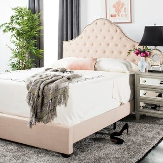 "Safavieh Bedding Beckham Queen size bed - Beige - 88.8"" x 64.5"" x 58.25"""