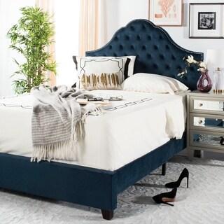 """Safavieh Bedding Beckham Queen size bed - Navy - 88.8"""" x 64.5"""" x 58.25"""""""