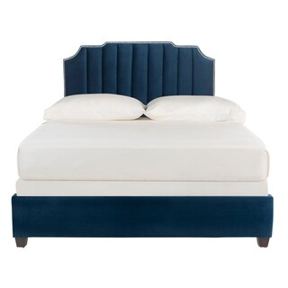 "Safavieh Bedding Streep Full size bed - Navy - 58"" x 82.5"" x 55"""