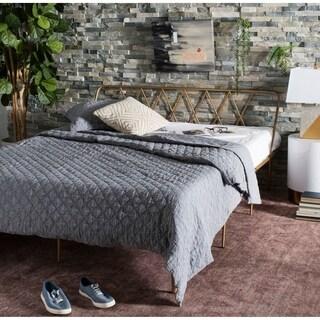 "Safavieh Bedding Gatsby Queen size bed - Gold - 62.5"" x 83.5"" x 30"""