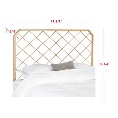 Safavieh Bedding Stitch Gold Metal Mesh Full size Headboard - Antique Gold