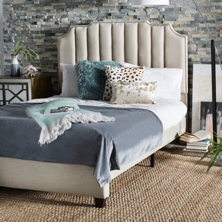 Link to Safavieh Bedding Streep Queen size bed - Beige Similar Items in Bedroom Furniture