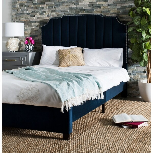 Safavieh Bedding Streep Queen size bed - Navy. Opens flyout.