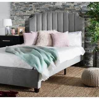 "Safavieh Bedding Streep Queen size bed - Grey - 64"" x 87.5"" x 55"""